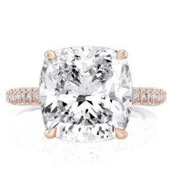 Rose Gold Cushion Engagement Rings