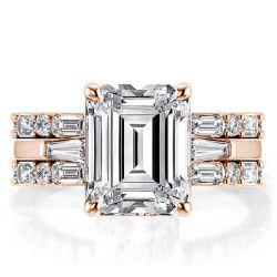 Rose Gold Emerald Wedding Ring