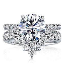V-Design Round Bridal Set