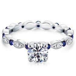 Art Deco Round Cut Engagement Ring