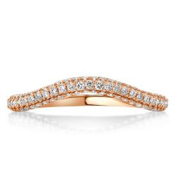 Rose Golden Curved Round Wedding Band