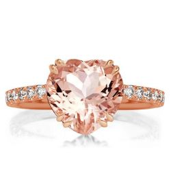 Rose Gold Heart Engagement Rings