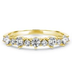 Golden Half Eternity Wedding Band