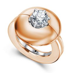 Rose Gold Round Cut Solitaire Wedding Set