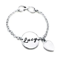 Personalized Infinity Name Bracelet
