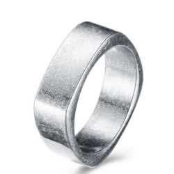 Vintage Simple Stainless Steel Unique Men's Wedding Band