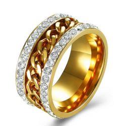 Chain Golden Stainless Steel Men's Wedding Band