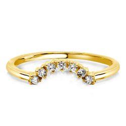V Shaped Gold Wedding Band