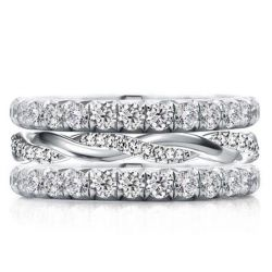 Round Cut Stackable Band Set