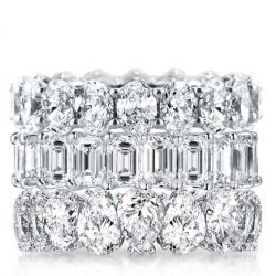 Pear Cut  Stackable Band Set