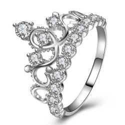Italo Crown Created White Sapphire Engagement Ring