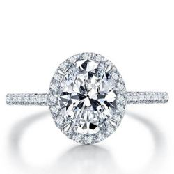 Simple Oval Engagement Ring