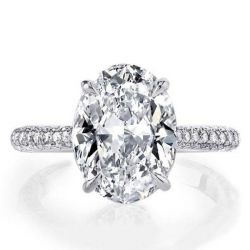 Italo Oval Created White Sapphire Engagement Ring