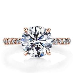 Rose Gold Classic Half Eterntiy Engagement Ring