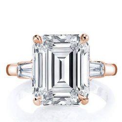 Rose Gold Emerald Cut Ring