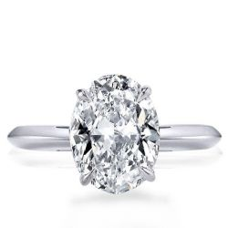 Oval Cut Solitaire Engagement Rings