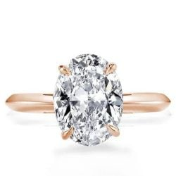 Rose Gold Oval Solitaire Engagement Ring