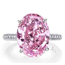Italo Oval Created Pink Sapphire Engagement Ring