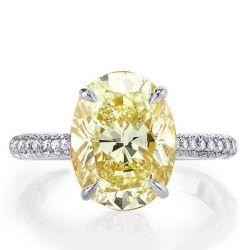 Italo Oval Created Topaz Engagement Ring