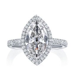 Classic Halo Marquise Engagement Ring