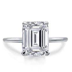 Single Stone Emerald Ring