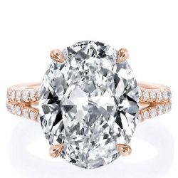 Rose Gold Oval Split Shank Engagement Ring