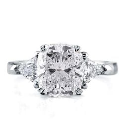 Cushion Cut Three Stone Ring