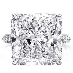 Hidden Halo Princess Cut Engagement Rings
