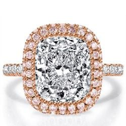 Rose Gold Pink Engagement Ring
