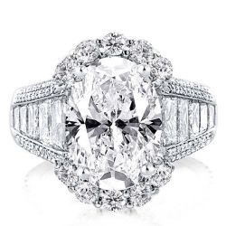 Halo Oval Engagement Ring(7.25 CT. TW.)