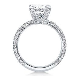Pave Shank Round Engagement Ring(4.35 CT. TW.)