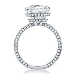 Double Hidden Halo Cushion Engagement Ring(4.15 CT. TW.)