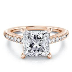 Rose Gold Classic Princess Engagement Ring(4.15 CT. TW.)