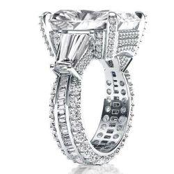 Italo Three Stone Radiant Engagement Ring(10.55 CT. TW.)