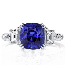 Double Prong Engagement Ring