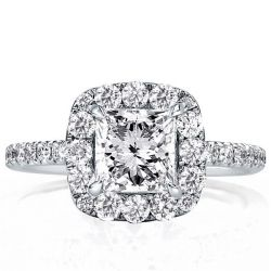 Halo Princess Engagement Ring(2.35 CT. TW.)