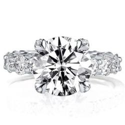 Classic Round Cut Engagement Ring