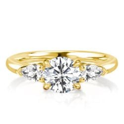 3 Stone Engagement Ring Gold
