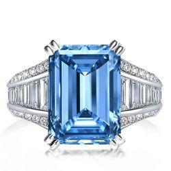 Female Aquamarine Wedding Ring