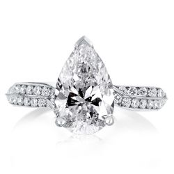 vintage pear shaped engagement rings