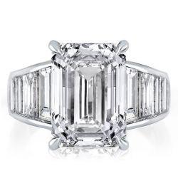 Baguette & Emerald Cut Engagement Ring