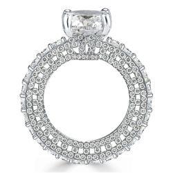 Eternity Cushion Cut Engagement Ring