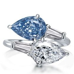 Pear Cut Twin Stone Engagement Ring