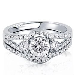 Split Shank Pave Engagement Ring