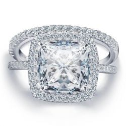 Halo Cushion Bridal Set (5.86 CT. TW.)