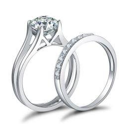 Womens Engagement Ring Set