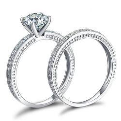 Milgrain Wedding Set
