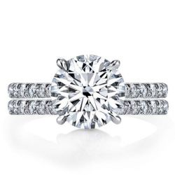 Italo Classic Half Eternity Created White Sapphire Bridal Set