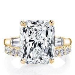 gold engagement and wedding ring set