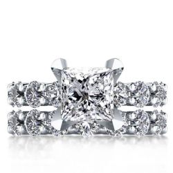 Italo Eternity Created White Sapphire Bridal Set